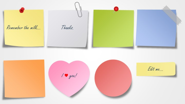Post It Template | Sticky Note Paper Template