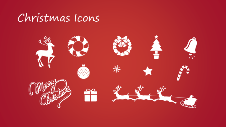 Free christmas powerpoint template powerpoint tips and tutorials christmas powerpoint template icons toneelgroepblik Gallery