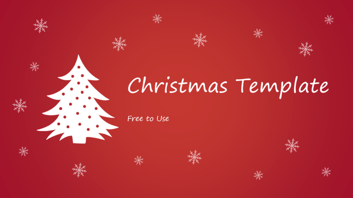 christmas powerpoint template title slide