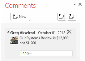 PowerPoint 2013: Comments