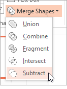 PowerPoint 2013: Merge Shapes