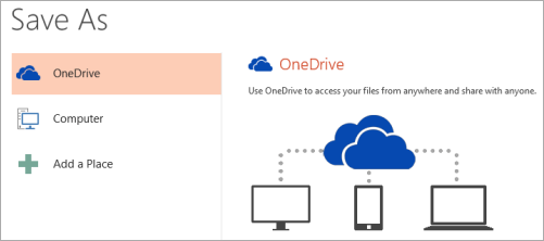 PowerPoint 2013: Save As > OneDrive