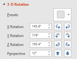 3-D Rotation Settings in PowerPoint