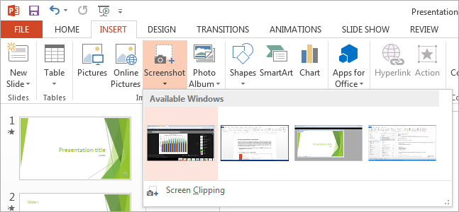 how to easily add screenshots to a powerpoint slide powerpoint