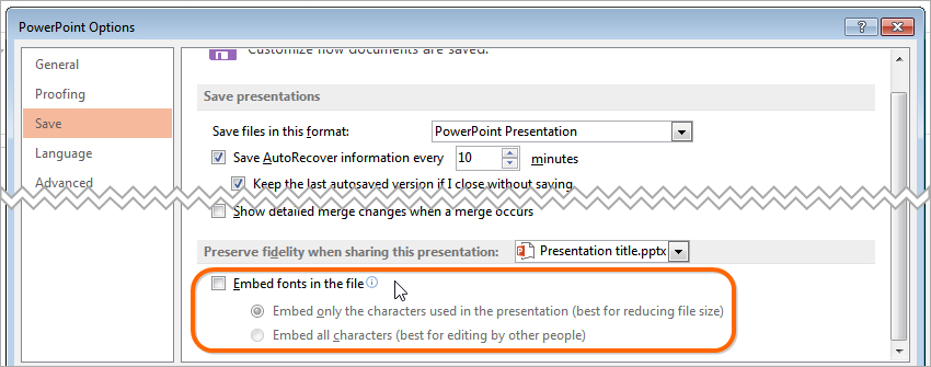 Why and How to Embed Fonts into a PowerPoint File