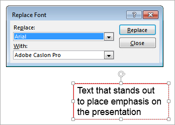 PowerPoint: Replace Font