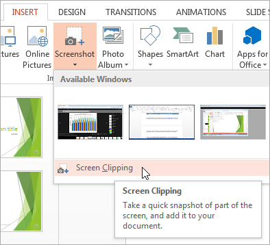 PowerPoint: Screen Clipping