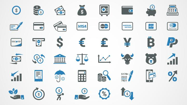 finance icons for powerpoint shapechef