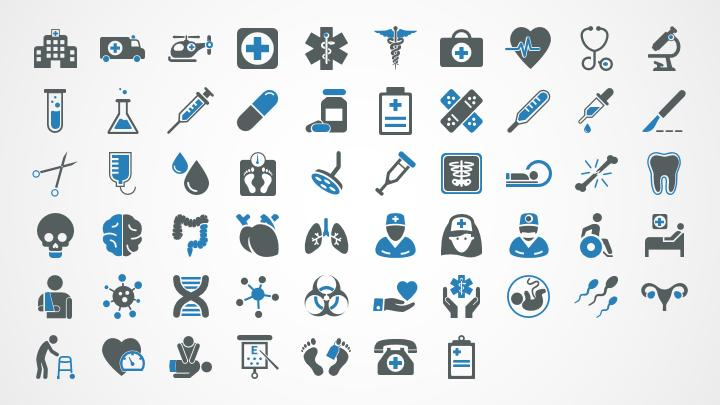 healthcare icons for powerpoint shapechef