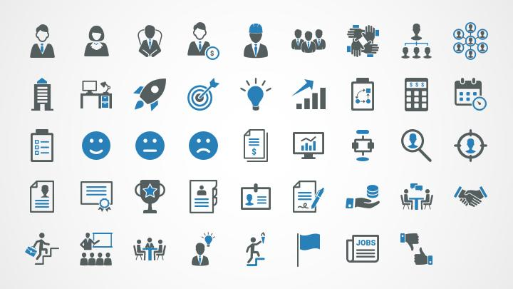 Management and Organization Icons